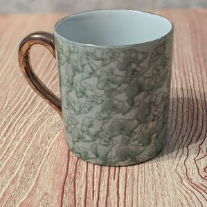 Green Marble Effect Ceramic Mug with Gold painted